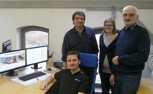 Bild mit Frau Kley, Herrn Hüther, Herrn Mixanek und Herrn Jödicke
