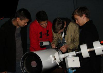 24 Beobachtungen mit dem Teleskop