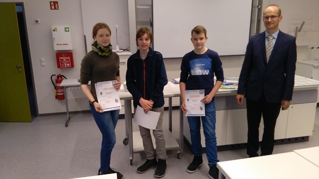 Teilnahme am Mathematisch-naturwissenschaftlichen Wettbewerb