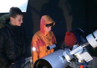 Beobachtung am Teleskop